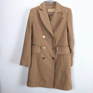 Michael Michael Kors Camel Wool Cashmere Coat Size 2